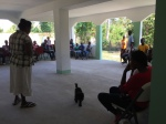 We have devotions, singing, & prayer at the beginning of each clinic day.